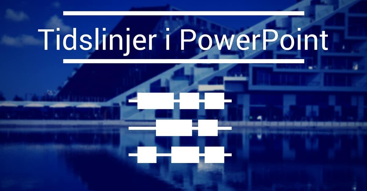 Tidslinjer i PowerPoint